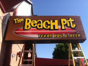Beach Pit Sign By Davis Signs